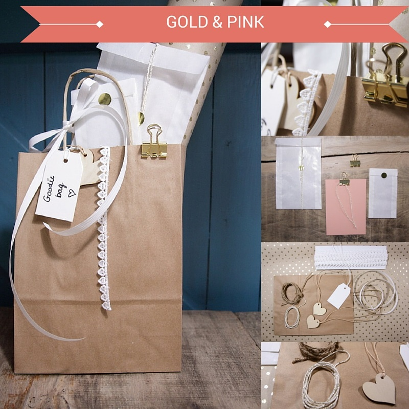 goodiebag pink and gold