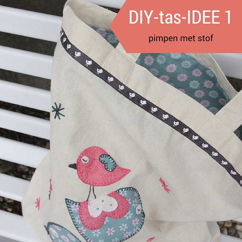 diy tas met applicatie