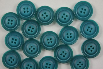 Turquoise knoop dubbele rand-18mm
