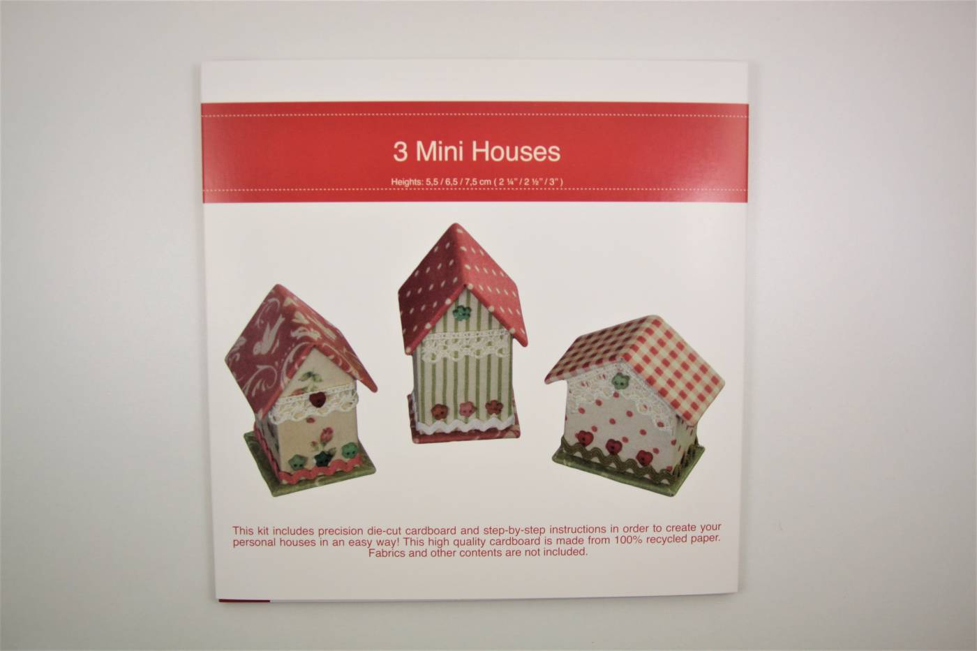 kartonnage 3 mini huisjes houses small r