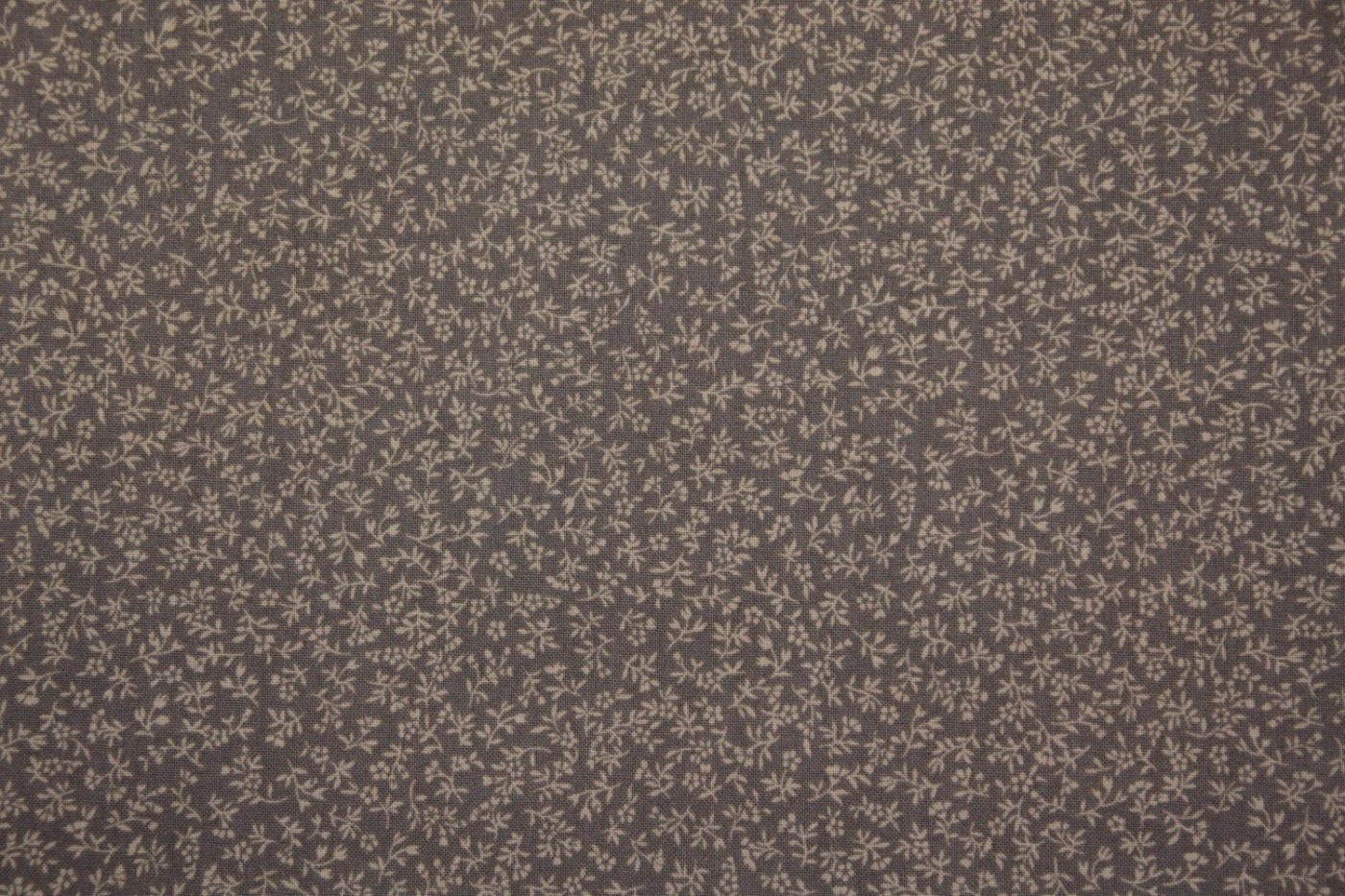 quiltstof-donker taupe-ecru takje-Red Ro