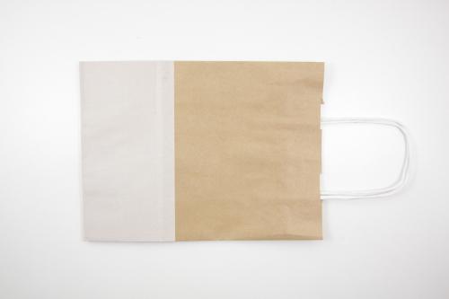 Papieren tasje wit kraft inpakken en verpakken for Papieren kraft zakjes