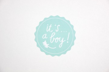Sluitsticker-it's a boy-zeegroen-mintgro