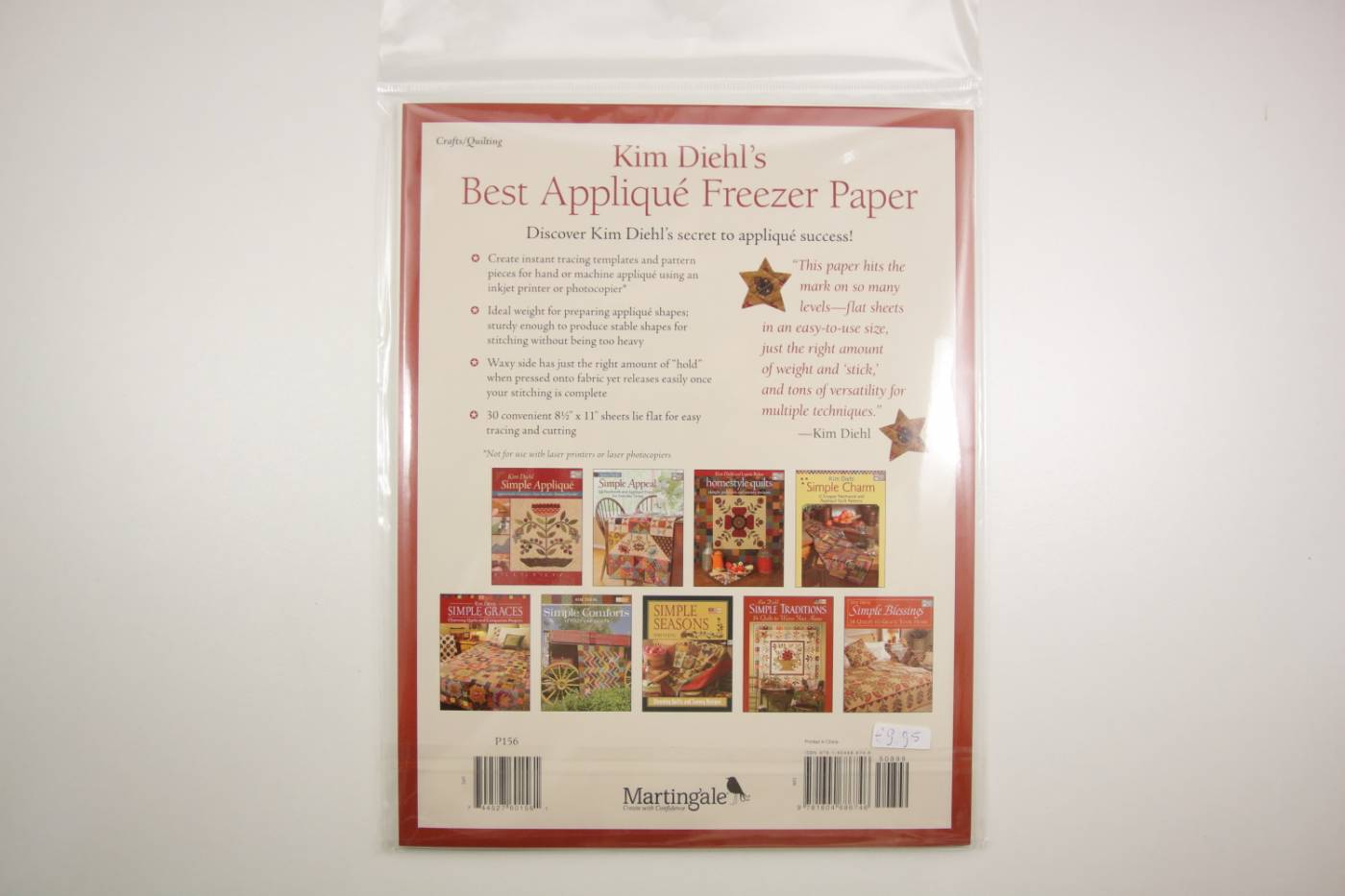 Freezer Paper- voor applicatie-Kim Diehl