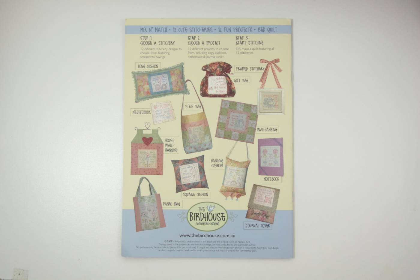 quiltboek- stitchery - Sweet Sentiments-