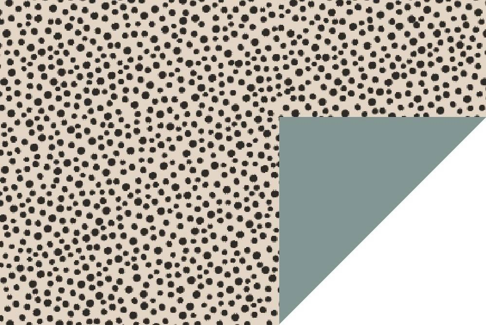cadeaupapier inpakpapier dots black and