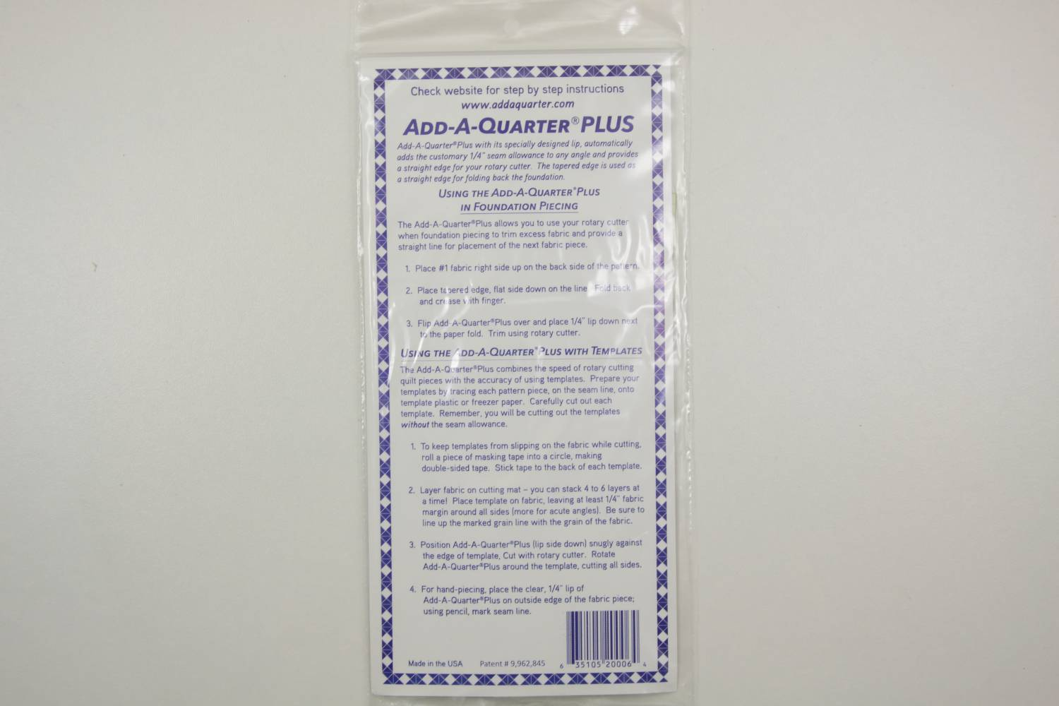 Liniaal-Add A Quater Plus-6 inches-Ad a