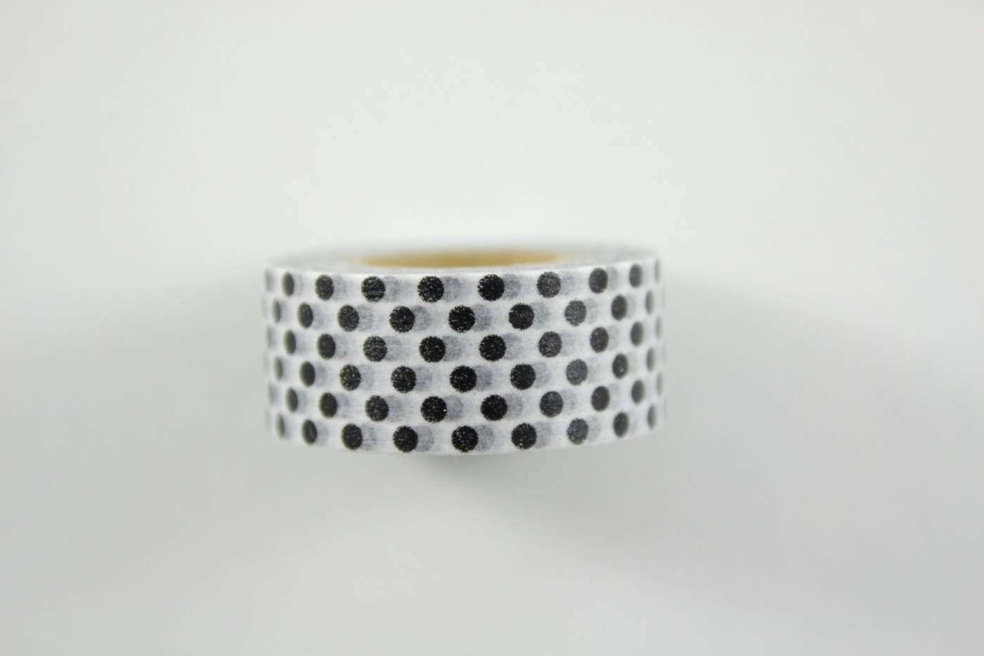 Washi Tape Masking Tape Wit Zwarte Stip
